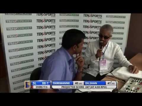 SLC Chairman Sidath Wettimuny interviewed by Ten Sport