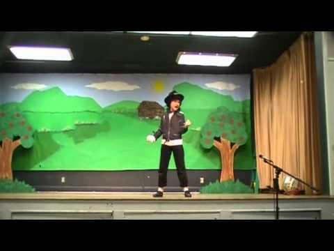 Kid performing Michael Jackson's Billie Jean