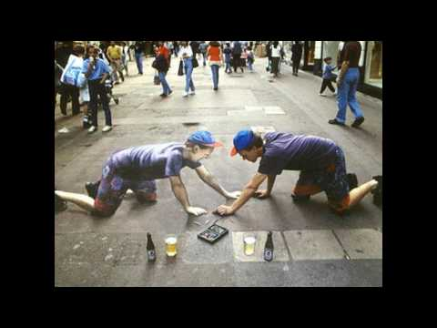 Julian Beever Sidewalk Chalk Drawings