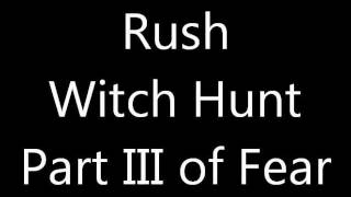 Watch Rush Witch Hunt video