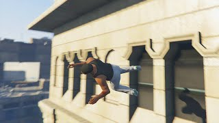 GTA 5 PARKOUR STUNTS & FUNNY MOMENTS #1 (Gta 5 Free Running)