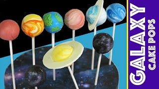 Galaxy Cake Pops | How to Make a Space Themed Cakepop SOLAR SYSTEM