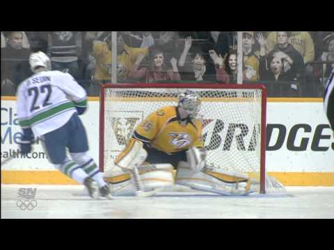 Canucks at Predators - Complete Shootout - 02.07.12 - HD