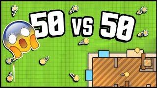 INSANE 50 vs 50 Mode! So Much Fun! (ZombsRoyale.io Gameplay is Basically Fortnite.io)