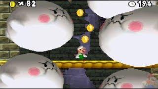 Newer Super Mario Bros DS 100% World 4: Pumpkin Boneyard