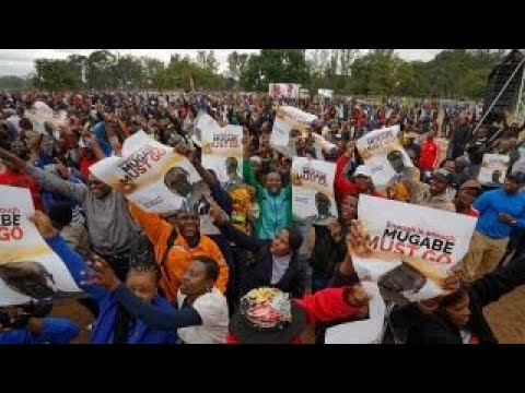 Thousands rally in Zimbabwe against President Mugabe