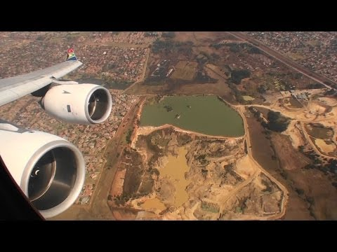 Phenomenal Business Class HD A340-600 Takeoff From Johannesburg South Africa!!!