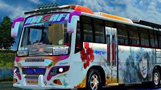 ASHOK LEYLAND bus mod|Euro truck simulator 2...Area private bus....