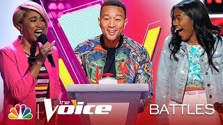 "Khalea Lynee vs Zoe Upkins sing ""The Boy Is Mine"" on The Battles of The Voice 2019"