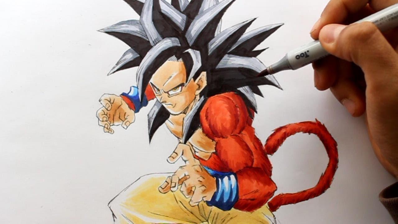 How To Draw Kid Goku Super Saiyan