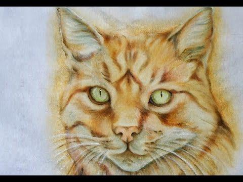 Gato Realista - Pintura em Tecido