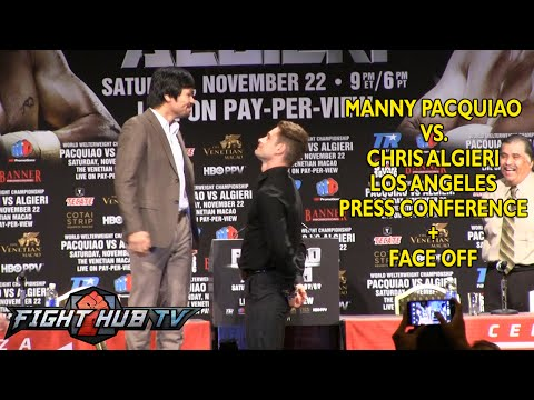 Manny Pacquiao vs. Chris Algieri- Full press conference + face off