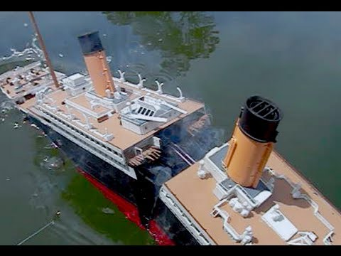[Model Titanic SPLITS #2] - High-Angle Breakup & Sinking