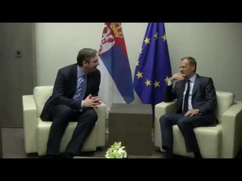 President Tusk meets PM of Serbia