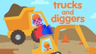 Construction Trucks For Children Diggers For Kids Tractor Excavator Dump Truck