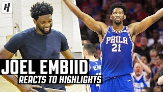 Joel Embiid Reacts To Joel Embiid Highlights!