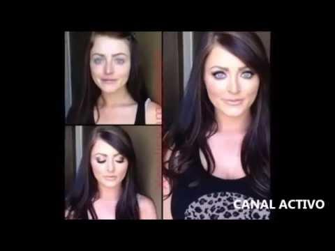 Estrellas de cine porno con y sin maquillaje