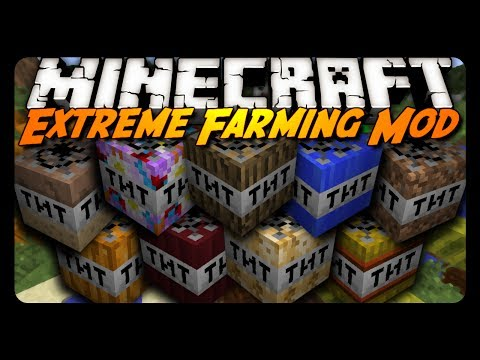 Minecraft Mod Review: EXTREME TNT FARMING MOD!