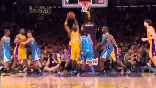 Kobe Dunks Twice Over Hornets - 2011 Playoffs Game 5