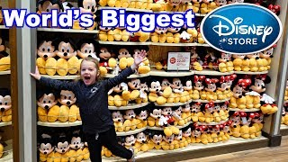 WORLD'S LARGEST Disney Store With Hundreds of Toys & Mickey Mouse