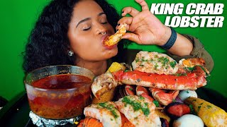 KING CRAB, LOBSTER TAILS, DUNGENESS SEAFOOD BOIL MUKBANG + Y'ALL GOT TO CHILL!