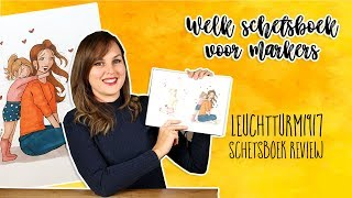 Welk schetsboek voor alcohol markers + Leuchtturm 1917 schetsboek review 2019 - Nederlands