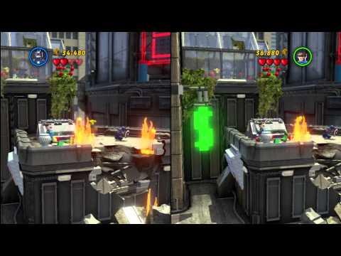 LEGO Marvel Super Heroes - Split Screen Co-op Walkthrough Part 2 - Times Square Off (PS3)