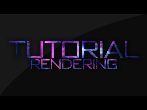 [VFX] - Rendering Tutorial / Adobe After Effects CS5 / 720p / Low Sizes