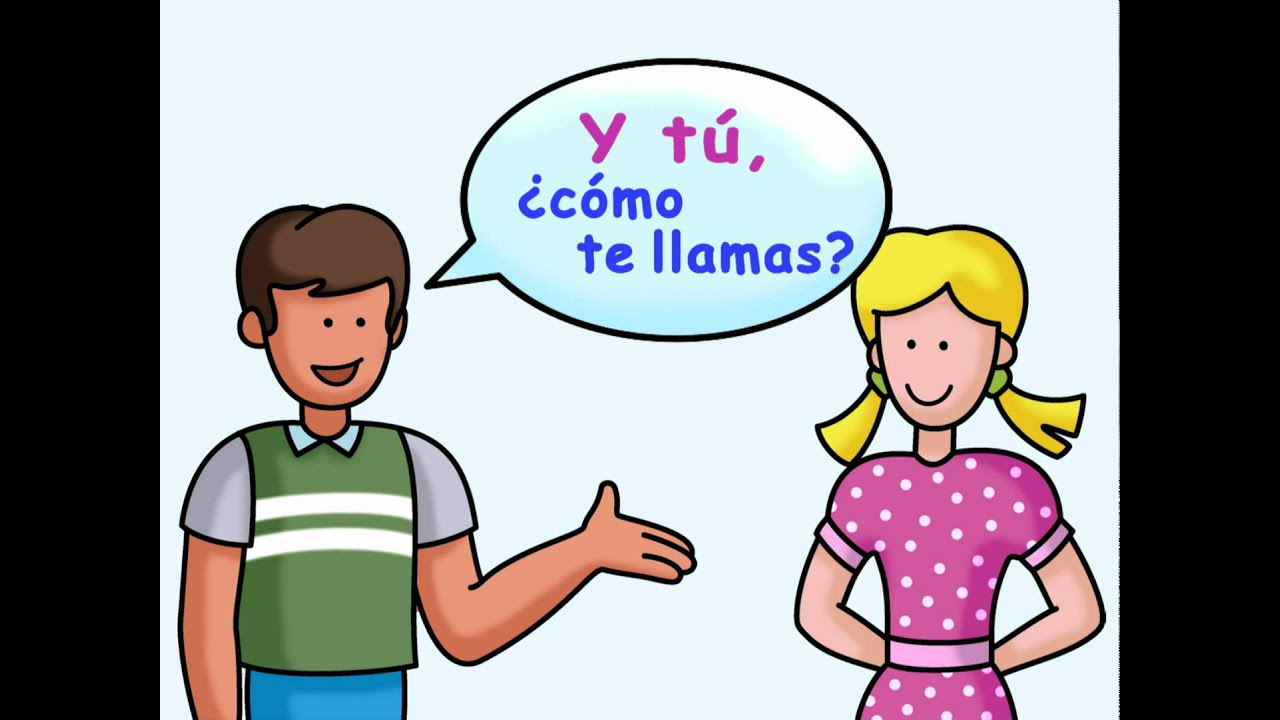 Write a conversation between two people in spanish