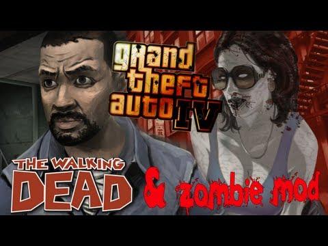GTA IV. Zombie mod и Ли Эверетт из Ходячих мертвецов.
