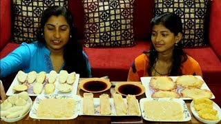 Bengali Pitha Eating Challenge || Indian Food Eating Competition || Eating Show