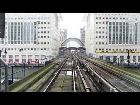 Riding the London DLR train from Lewisham to Bank