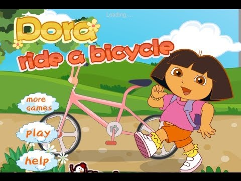 Dora the Explorer Online Games - Biking in the forest road
