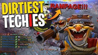 THE DIRTIEST TECHIES RAMPAGE - DotA 2 Patch 7.20c