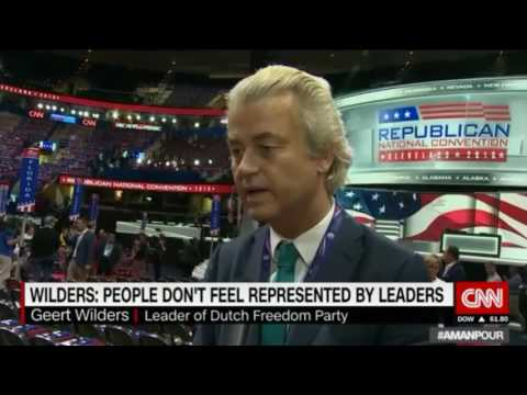 Geert Wilders interviewed by CNN at the Republican National Convention
