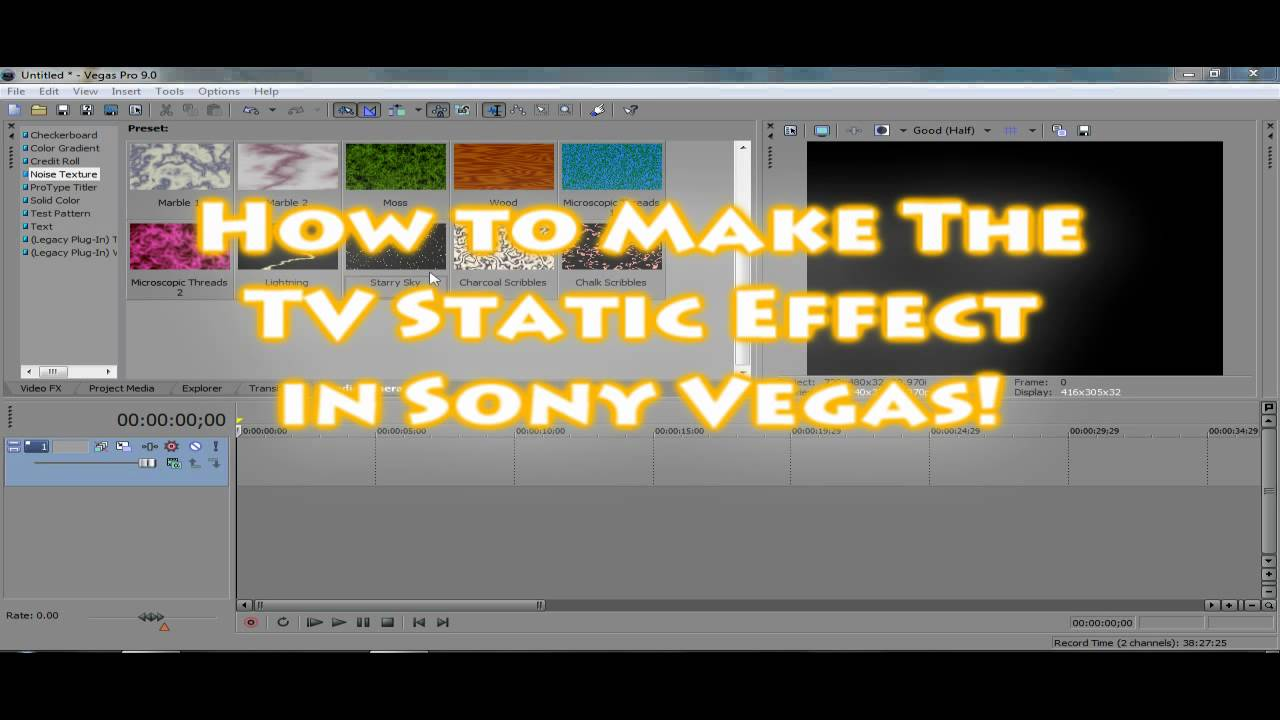 how to create sound waves sony vegas