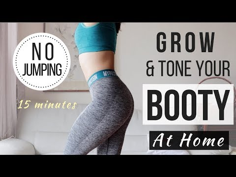 15 min No Jumping Booty Workout! Get Rid of Cellulite + Toning thumbnail