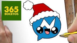 Como Dibujar Un Logo Messenger Para Navidad Paso A Paso Dibujos