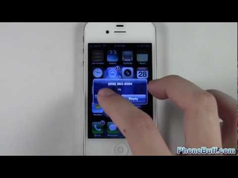 How To Turn Off Sms Popup Alert On The Iphone video
