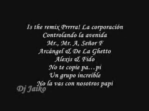Alexis Y Fido Ft Franco El Gorila Y Arcangel & De La Guetto   Mala Conducta Letra  Remix Oficial