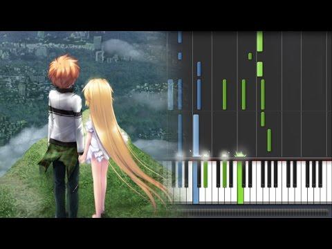【FULL】Rewrite [ リライト ] Shizuru's Route ED - Koibumi [ 恋文 ] (Piano Synthesia Tutorial + Sheet)