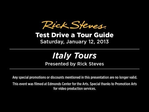 Italy Tours 2013 with Rick Steves
