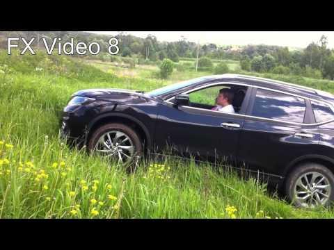 Nissan X trail 2015 2wd на даче (off road) - первый тест