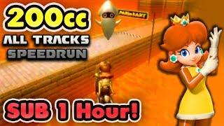 Mario Kart Wii - 200cc All Tracks Speedrun - 0:59:50 (No Ultra Shortcuts)