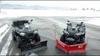 Polaris 570SP or 850SP & Boss VS. Glacier Plow SPEED TEST