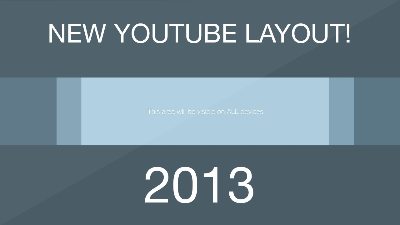Youtube One Channel Template Layout Download Free 2013