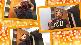 WAND CURLING MY SEW-IN FOR THE FIRST TIME!!!!!
