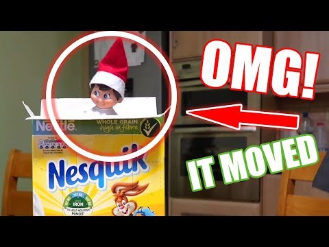 ELF ON THE SHELF is REAL🎄CAUGHT ON CAMERA MOVING and EATING CEREAL🎄