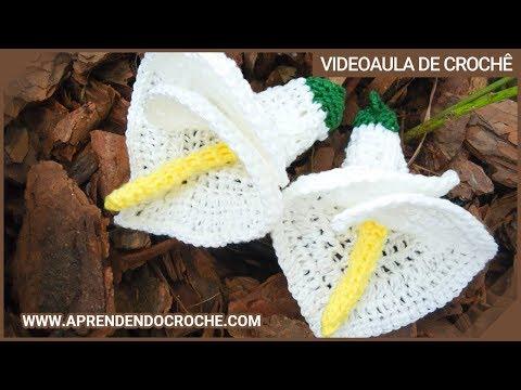 Flor de Croche Copo de Leite — 1º Parte