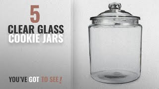 Best Clear Glass Cookie Jars [2018]: ANH69349T - Anchor Heritage Hill Glass Jar With Lid, 1 Gallon,